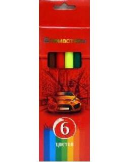 """Фломастеры """"BG"""" 6 цветов, """"Красная сила"""" в коробке"""