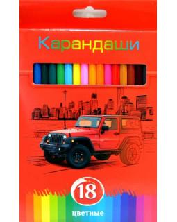 """Карандаши """"BG"""" 18 цветов """"Красная энергия"""" с заточкой, в коробке"""