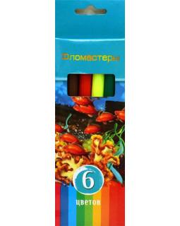 """Фломастеры """"BG"""" 6 цветов, """"Аквамариновое настроение"""" в коробке"""