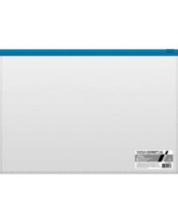 Папка-конверт Пластиковая на молнии А4ф Hatber 110мкм Прозрачная