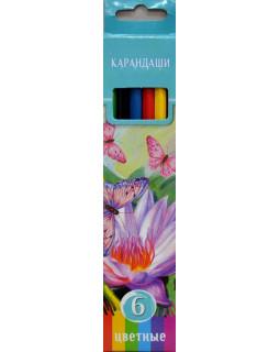 """Карандаши """"BG"""" 6 цветов """"Аквамариновое настроение"""" с заточкой, в коробке"""
