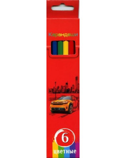 """Карандаши """"BG"""" 6 цветов """"Красная энергия"""" с заточкой, в коробке"""