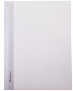 Папка-скоросшиватель пластик/прозрачный верх А4 белая
