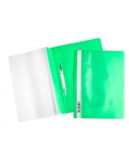 Папка-скоросшиватель пластик/прозрачный верх А4 зеленая