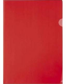 Папка-уголок А4 красная 150 микрон
