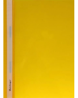 Папка-скоросшиватель пластик/прозрачный верх А4 желтая