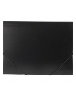 Папка Пластиковая Hatber А4 на резинке Черная