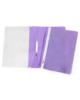 Папка-скоросшиватель пластик/прозрачный верх А4 фиолетовая