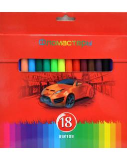 """Фломастеры """"BG"""" 18 цветов, """"Красная сила"""" в коробке"""