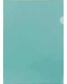 Папка-уголок А4 зеленая 150 микрон