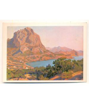 Судак. Генуэзская крепость. Вид на гору Сокол и бухту Новый Свет