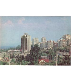 Крым. Алушта. Вид на новый микрорайон города