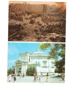Севастополь. Фрагмент панорамы. Здание панорамы