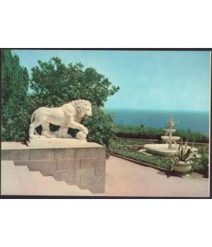 Крым. Алупка. Лев на террасе дворца-музея