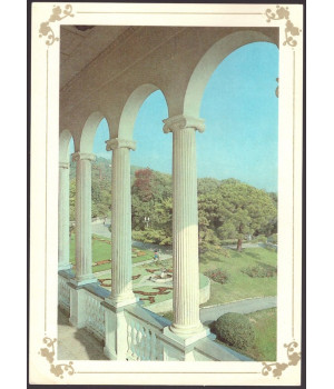 Крым. Ливадийский дворец. Вид на Ливадийский парк из дворца