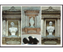 Бюсты героев обороны Севастополя 1854 - 1855 гг. в нишах здания панорамы