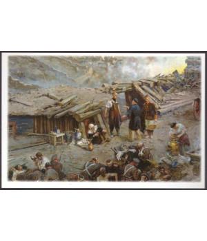 На перевязочном пункте Малахова кургана - хирург Н. И. Пирогов